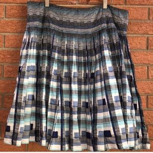 💙LIZ CLAIBORNE💙PLAID PLEATED DROP WAIST SKIRT💙